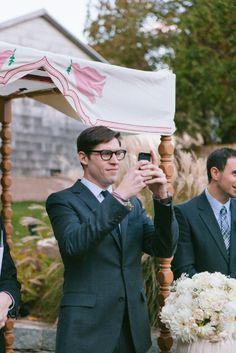 Taking photos of his gorgeous bride | Rachel & Ben's Lace Factory Connecticut Wedding | Sweet Little Photographs