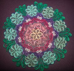 Handcrafted Quilled Mandala by FranMadeCards on Etsy