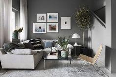Daniel Lindström's living room in grey