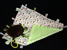 """""""Timmy Turtle"""" stuffed taggie animal paired with """"I Love Grandma"""" taggie blanket Sold as a set for $30 (add $5 for personalized embroidery) https://www.facebook.com/chicpeachboutique (view more details listed with the individual items on the Taggie Blanket board and the Taggie Animal board)"""