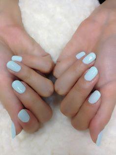 Robin's egg blue polish for toenails