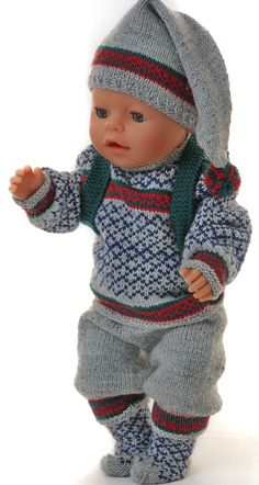 American girl doll sweater pattern - new years great winter outfit Baby Born Clothes, American Girl Clothes, Girl Doll Clothes, Girl Dolls, Diy Clothes, Knitting Dolls Clothes, Knitted Dolls, Doll Clothes Patterns, Doll Patterns