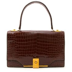 2d6fc7226f94 Labellov Hermes Vintage Croco Shoulder Bag ○ Buy and Sell Authentic Luxury