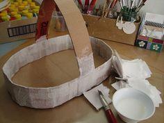 Canasta de cartón reciclado - Dale Detalles