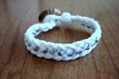 Woven Hex Nut Bracelet | Bracelet & necklace tutorials & inspiration
