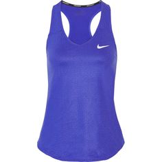 Nike Court Pure Dri-FIT stretch tank (€46) ❤ liked on Polyvore featuring activewear, activewear tops, royal blue, nike sportswear, nike activewear and nike