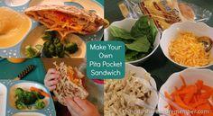 Lunch time Fun:Make Your Own Pita Pocket Sandwich