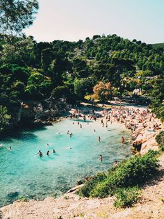 Crystal clear waters of Les Calanques in Marseille, France / photo by Beyza M