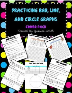Bar Graph, Line Graph, Circle Graph Discount Bundle Pack! Types Of Graphs, Line Graphs, Bar Graphs, Teaching Science, Student Learning, Circle Graph, Fifth Grade Math, Numeracy, 5th Grades