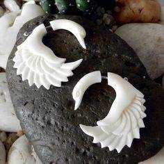 carved bone earrings