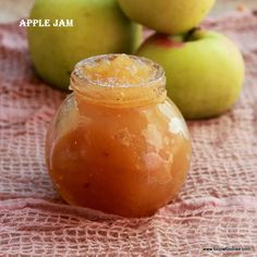 Apple jam made with only 3 ingredients