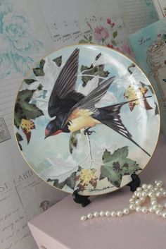 Limoges plate limited first edition Swallow plate porcelain