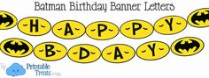 {free} printable batman birthday banner