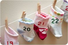 What a precious idea! And a great way to reuse outgrown baby socks. Easy to make with Avery iron-on fabric transfers.
