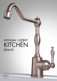 Ideal for a bar or kitchen sink, this antique copper faucet adds a farmhouse-style feel to your home.