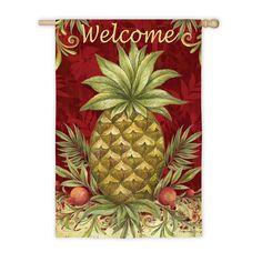 Evergreen Flag Welcome Pineapple House Flag - 13S3557