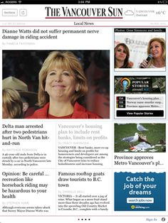 The Vancouver Sun for iPad - Vancouver's daily, award-winning, broadsheet newspaper since 1912. Read it daily to keep abreast of local news and other happening stories from around the world. I enjoy this paper, but have to admit that I'm still partial to the wide range of in-depth articles of the New York Times.