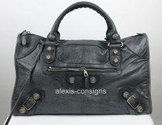 Balenciaga Dark Grey Leather Work Giant 21 Silver Hardware Satchel Bag Rare   Clothing, Shoes & Accessories, Women's Handbags & Bags, Handbags & Purses   eBay!