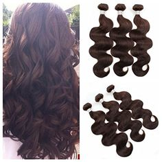 Ali Funmi 8A Brazilian Dark Brown Body Wave Bundles 16 18 20 Unprocessed Virgin Human Hair Weave Extensions Color 2 *** You can get additional details at the image link. (This is an affiliate link and I receive a commission for the sales) #BeautySalonEquipment