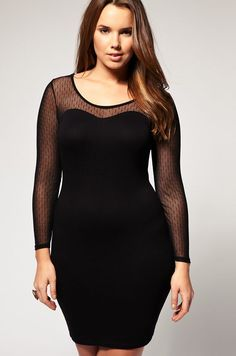 fbe16cf5f4f Browse through the styles and choose the perfect plus size little black  dress for you. From A-line to bodycon