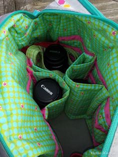 Alleskönner als Kameratasche Tasche Spiegelreflex selber nähen Schnittmuster farbenmix: