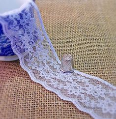 NEW White lace M315 Types Of Lace, Chantilly Lace, Haberdashery, Flower Designs, White Lace, Lace Trim, Lace Shorts, Delicate, Ribbon