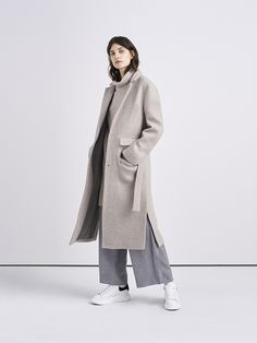 Petra is a fluid duster coat made from an Italian virgin-wool blend, designed…