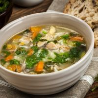 Homemade Chicken Noodle Soup Recipe with Carrots-Onions-Parsley & Spaghetti Noodles.