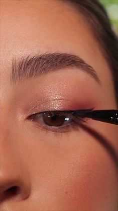 Daytime Eye Makeup, Eye Makeup Steps, Eye Makeup Art, Cute Makeup, Soft Eye Makeup, Pretty Eye Makeup, Sweet Makeup, Casual Makeup, Asian Eye Makeup