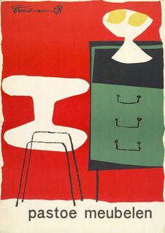 Affiche, Pastoe, Theo Stradmann, 1958