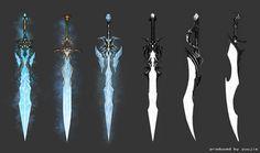 Ομδατ ικ ίερ σιν ιν έβ εν βηνα νιεμανδ διτ καν λεσεν (^_^) Fantasy Sword, Fantasy Weapons, Fantasy Art, Anime Weapons, Weapons Guns, Magic Sword, Character Art, Character Design, Cool Swords