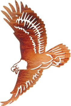 "24"" Eagle Wall Art www.rusticeditions.com"