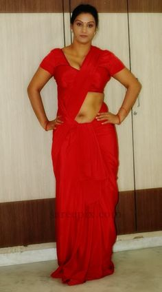 Apoorva aunty backless saree photos