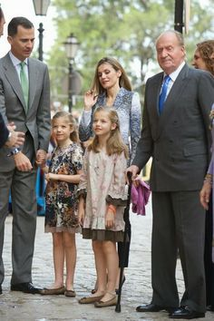 Spanish Royal Family attended  the Easter Mass at the Cathedral of Palma de Mallorca in Palma de Mallorca