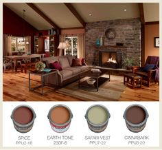 Kitchen Living Rooms Remodeling Colorfully, BEHR :: Color of the Month: Terracotta - A popular member of the orange family, check out the color of the month: terracotta. These soft and warm tones are well loved in interior design. Rustic Paint Colors, Room Paint Colors, Paint Colors For Living Room, Interior Paint Colors, Paint Colors For Home, House Colors, Interior Design, Interior Painting, Wall Colors