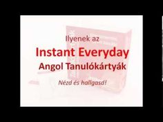 Instant Everyday Angol Tanulókártyák [AngolNyelvTanitas.hu] English Language, Cards Against Humanity, Business, Youtube, Color, English, English People, Colour, Store