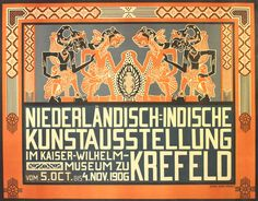 Original Art Nouveau exhibition poster: Dutch Indies (Indonesia) Art Exhibition 1