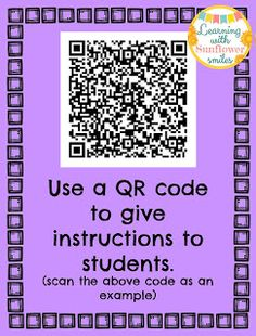 Using QR codes in the classroom - Learning with Sunflower Smiles