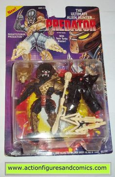 Kenner ALIENS vs PREDATOR action figures for sale to buy 1994 NIGHTSTORM PREDATOR New - Still Factory Sealed in the original package Condition: Figure has never been removed and therefore retains the