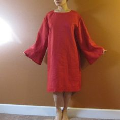 custom pure linen straight dress made to by annyschooecoclothing