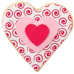 My Heart's A Swirl Cookies - Just the sweet to show someone how much you love him or her! These heart-shaped cookies feature Sugar Sheets! patterns and colors.