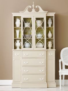 China cabinet- would it be wrong to paint an antique this color?