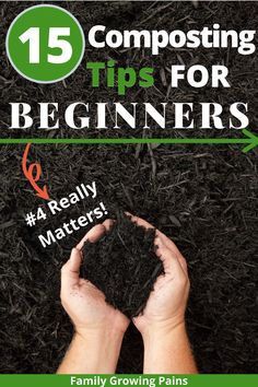15 Composting Tips for Beginners 15 Composting Tips for Beginners,Homestead Ideas Do you want to learn how to make compost? With these 15 composting tips, anyone can start a compost in their backyard or. How To Start Composting, Composting Process, How To Make Compost, Composting At Home, Worm Composting, Making Compost, Garden Compost, Veg Garden, Garden Soil