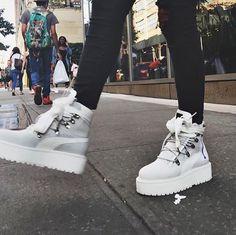 RIHANNA X PUMA White Sneaker Boots