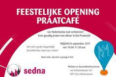 Feestelijke opening eerste Praatcafé Klazienaveen op 8 september