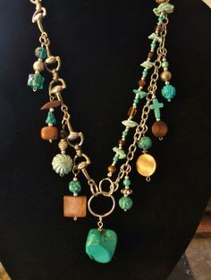 Turquois Statement NecklaceBeaded  by UniqueDesignsbyCK on Etsy, $24.95