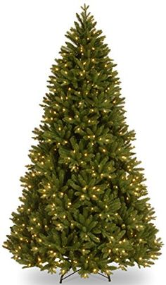 National Tree FeelReal Scandinavian Fir Hinged Tree with 750 Clear Lights 712Feet ** You can find more details by visiting the image link.