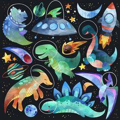 Watercolor Space Dinosaurs Clipart by DigitalArtsi on Dinosaur Illustration, Art Et Illustration, Illustrations, Dinosaur Art, Cute Dinosaur, Clipart, Decor Planet, Image Transparent, Dinosaur Wallpaper