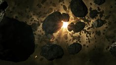 Asteroid Field - This is a picture of a very dense asteroid field which has a large width and height compared to most. University Of Hertfordshire, Asteroid Belt, Treasure Planet, Space Planets, Hubble Space Telescope, Star Citizen, Space Exploration, Cosmos, Concept Art