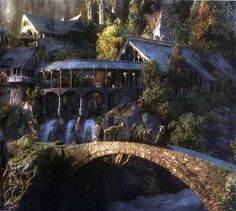 Rivendell. Rivendell (Sindarin: Imladris) is an Elven outpost in Middle-earth, a fictional realm created by J. R. R. Tolkien. It was established and ruled by Elrond in the Second Age of Middle-earth (four or five thousand years before the events of The Lord of the Rings).